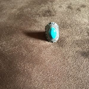 Jewelry - Sterling Silver Turquoise Stone Ring